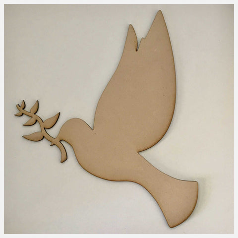 Dove Bird Peace MDF DIY Raw Cut Out Art Craft Decor - The Renmy Store