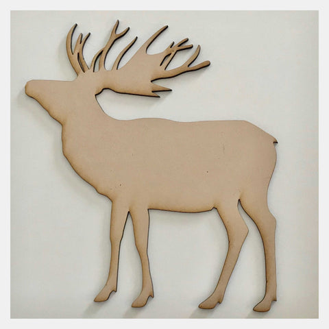 Moose Animal Deer Stag Raw MDF Timber DIY Craft - The Renmy Store