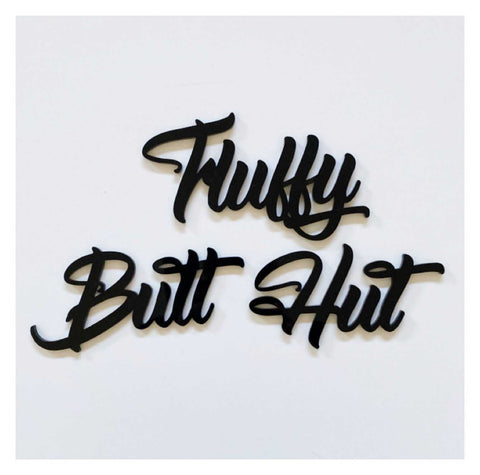 Fluffy Butt Hut Coop Chicken Hen House Word Acrylic | The Renmy Store
