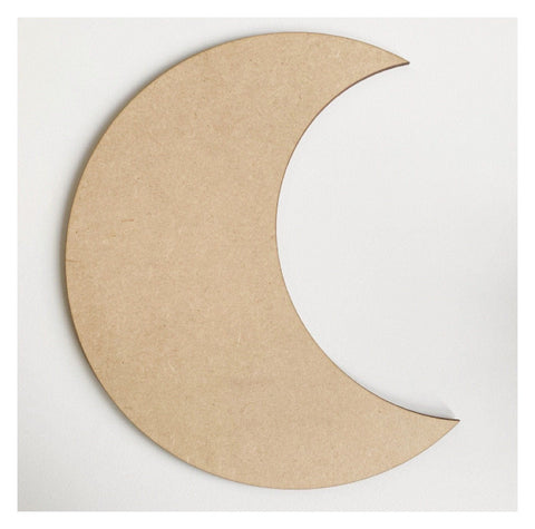 Moon Crescent MDF Shape DIY Raw Cut Out Art Craft Decor