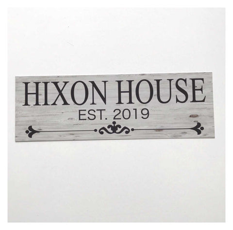 Custom Your Family Name and Year House Sign Plaques & Signs The Renmy Store