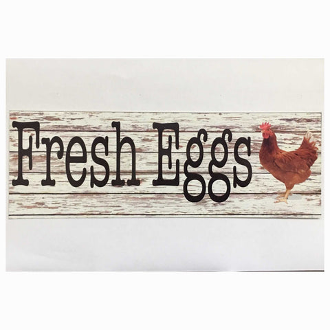 Fresh Eggs Chicken Sign Plaques & Signs The Renmy Store