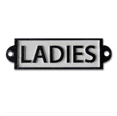 Ladies Toilet Cast Iron Sign