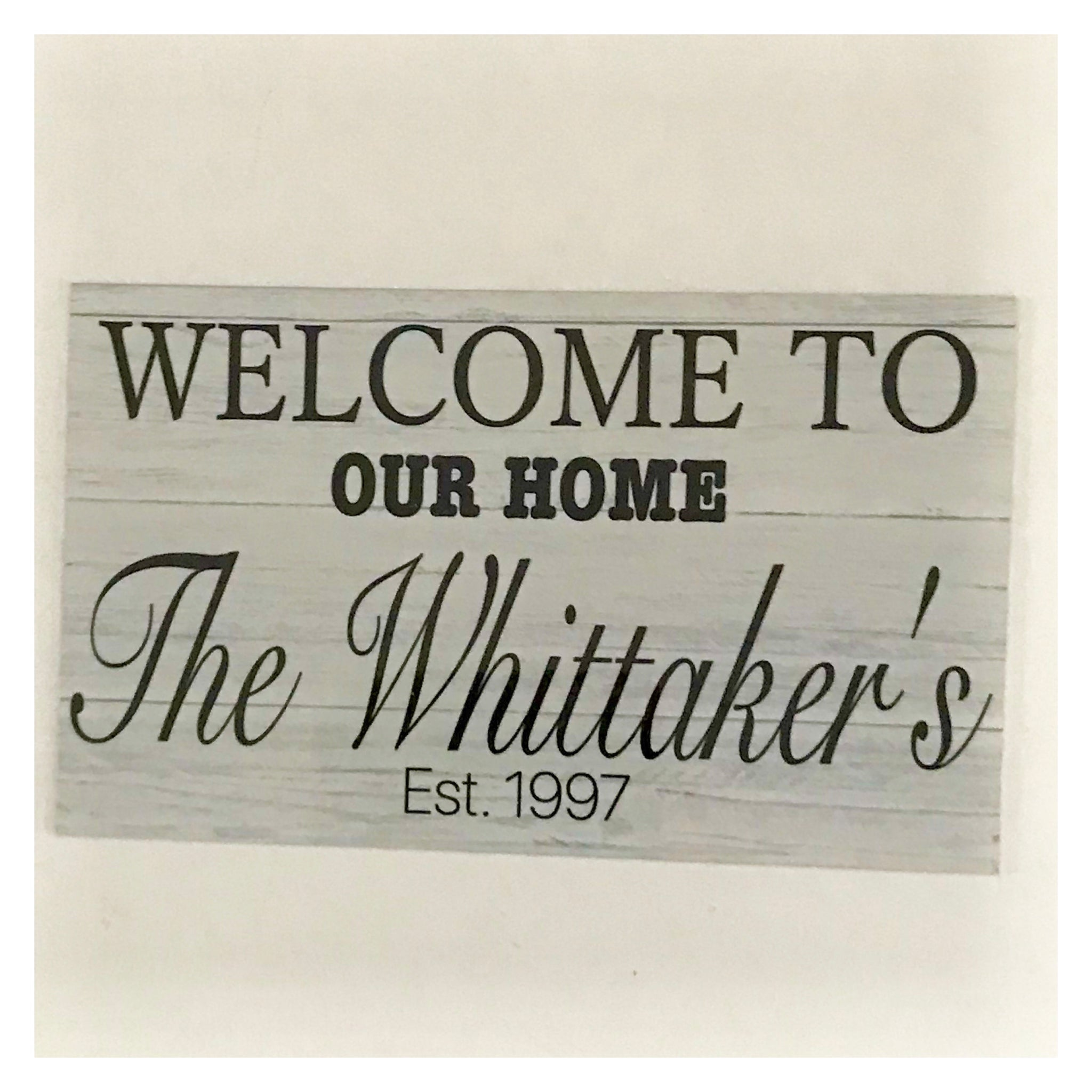Welcome To Our Home Custom Family Name Sign