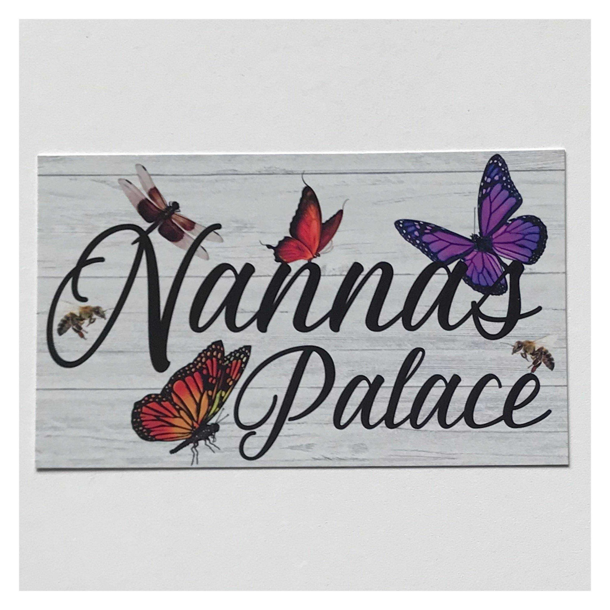 Custom Name Place Butterfly Dragonfly Sign