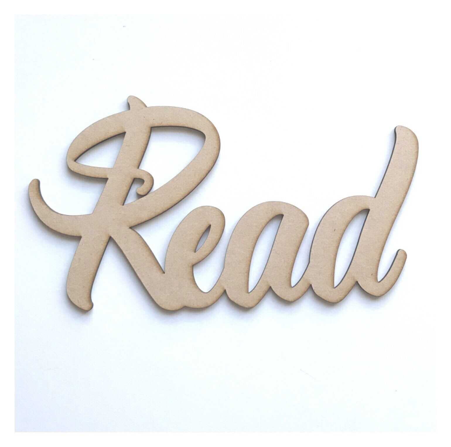 Read Word Wall Quote Art DIY Raw MDF Timber Wood - The Renmy Store