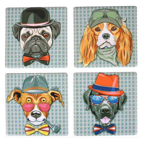 Funky Dogs Coasters Coaster Set of 4 | The Renmy Store