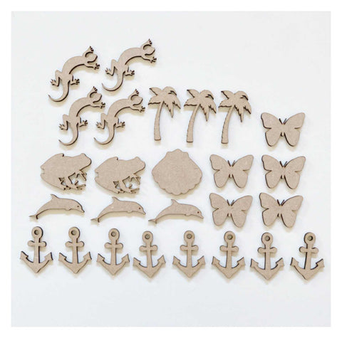 Animal Set of 26 MDF Timber DIY Raw Craft | The Renmy Store