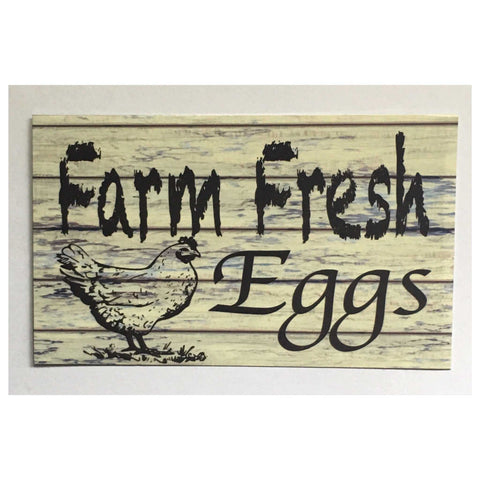 Farm Fresh Eggs Timber Look Sign - The Renmy Store
