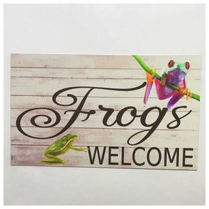 Frogs Welcome Sign Plaque or Hanging - The Renmy Store