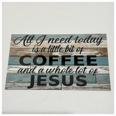 Coffee & Jesus Sign Plaque Or Hanging - The Renmy Store