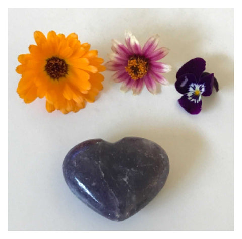 Crystal Lepidolite Heart 2 | The Renmy Store