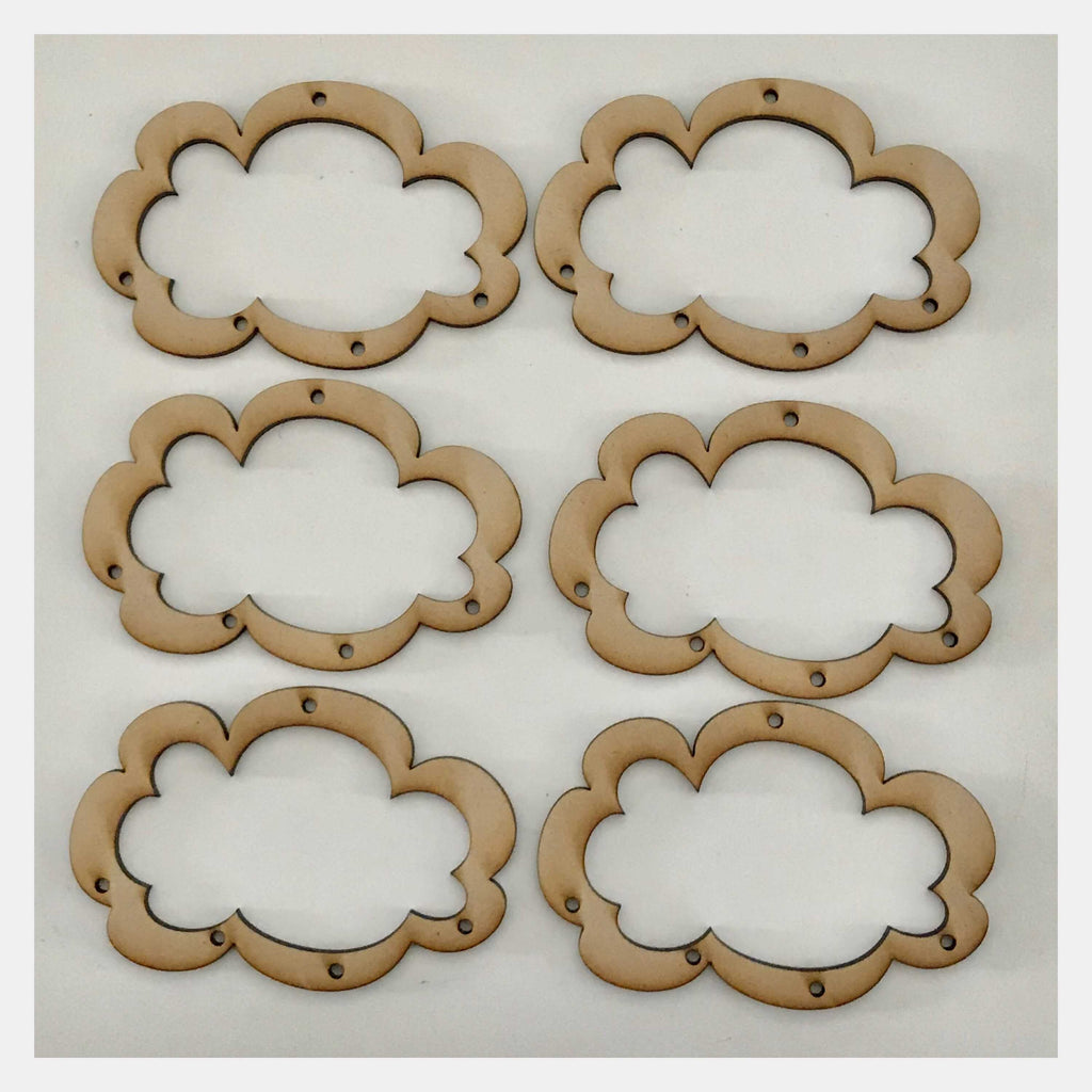 Cloud Mobile DIY Raw Wooden MDF DIY Craft - The Renmy Store
