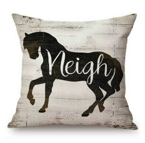 Cushion Pillow Horse Neigh
