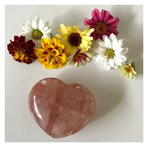 Crystal Fire Quartz Heart