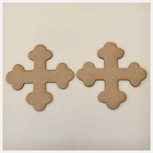 Cross Set of 2 Bontonee Russian MDF Shape DIY Raw Cut Out Art Religious Craft Decor Other Home Décor The Renmy Store