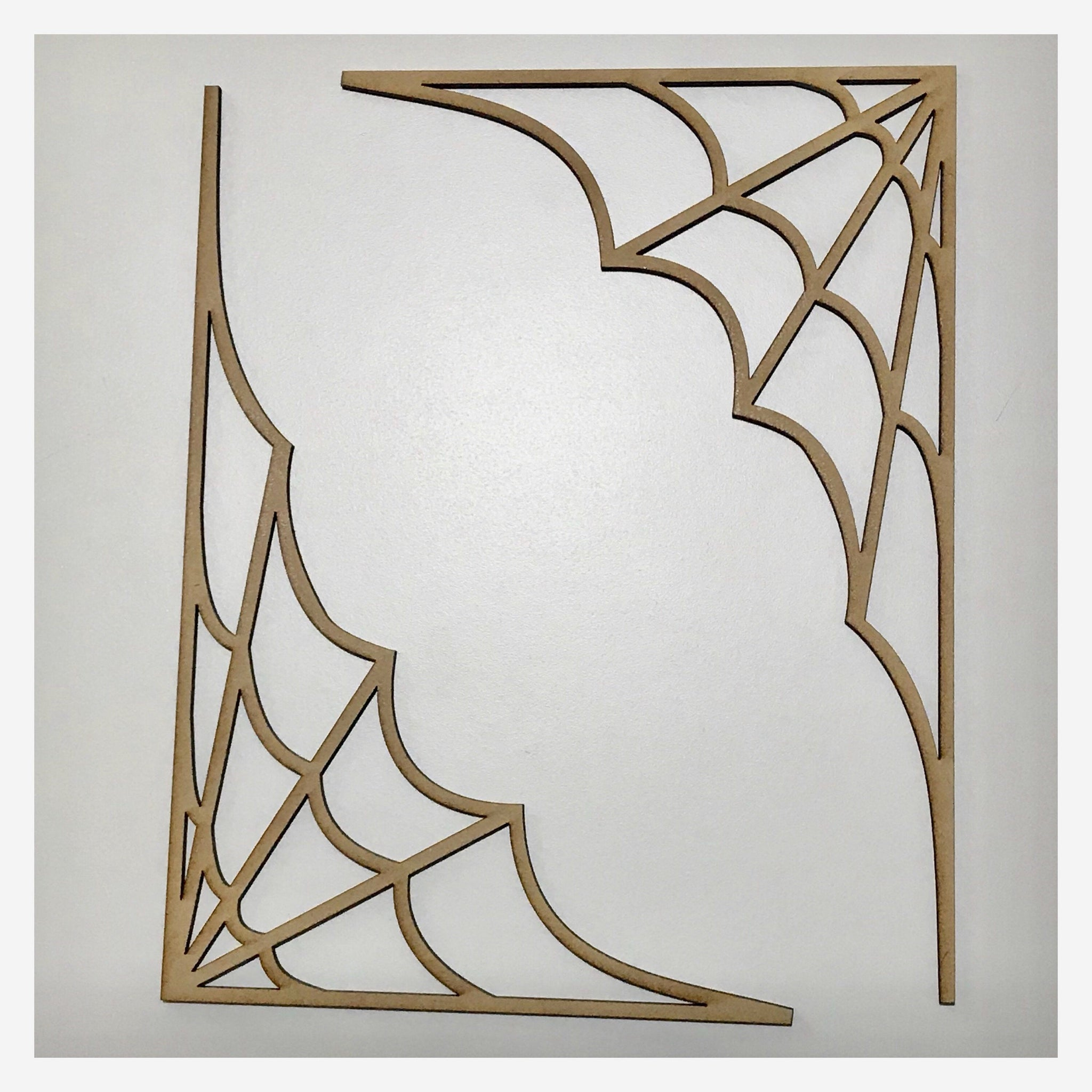 Spider Spiders Webs Web x 2 MDF Shape DIY Raw Cut Out Art Craft Decor