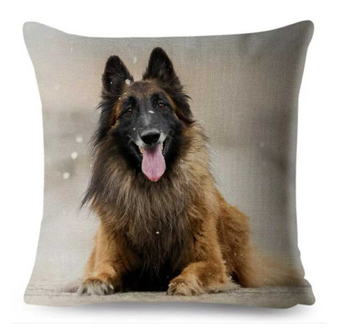 Cushion Pillow German Shepherd Snow Dog