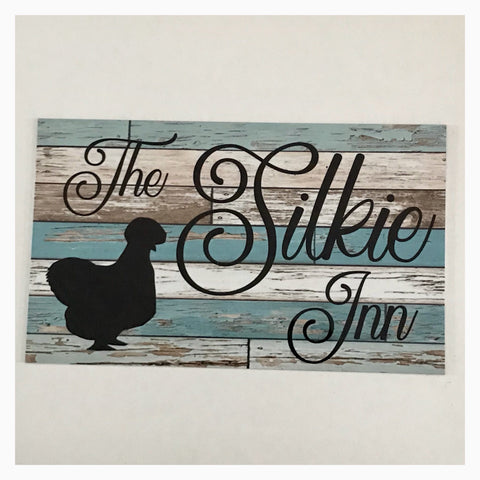 The Silkie Inn Blue Timber Style Sign - The Renmy Store