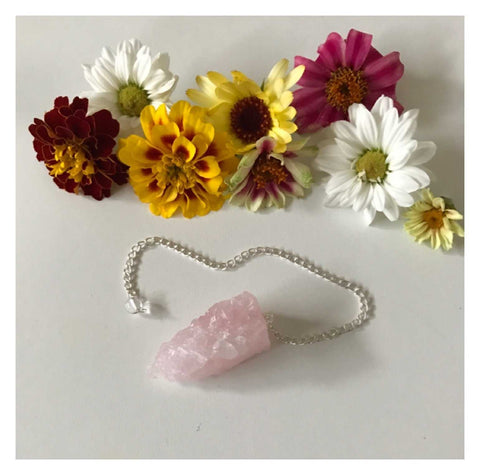 Pendulum Crystal Rose Quartz Natural