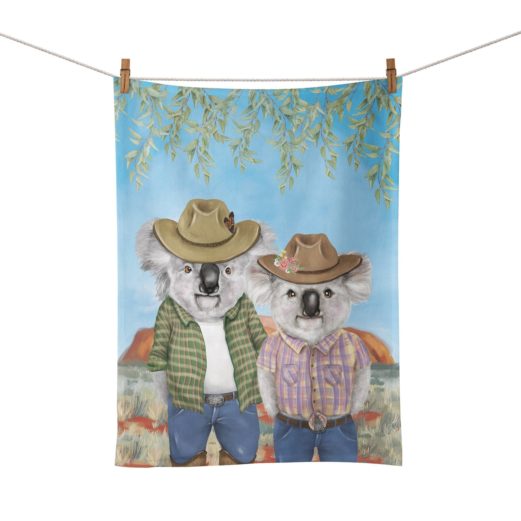 Tea Towel Koala Country Outback