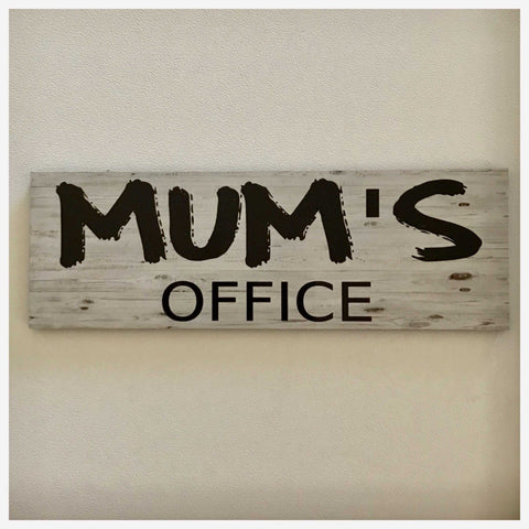 Office Door Custom Your Name Timber Look Business Sign Wall Plaque or Hanging - The Renmy Store