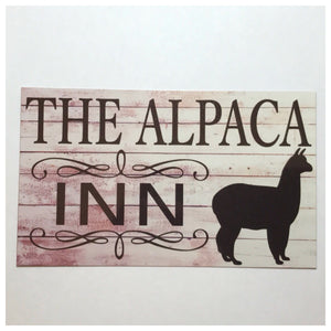 The Alpaca Inn Sign