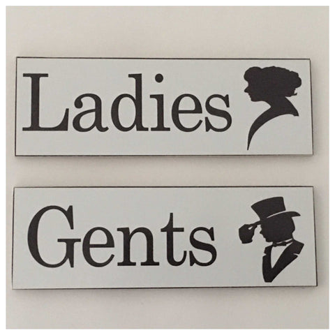 Ladies & Gents Toilet Door Sign - The Renmy Store