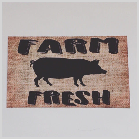 Pig Farm Fresh Sign Wall Plaque Or Hanging - The Renmy Store