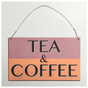 Tea & Coffee Vintage Sign - The Renmy Store