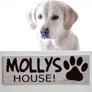 Custom Your Dog Name House Kennel Sign
