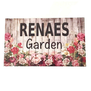 Floral Garden with your Name Custom Sign Plaques & Signs The Renmy Store