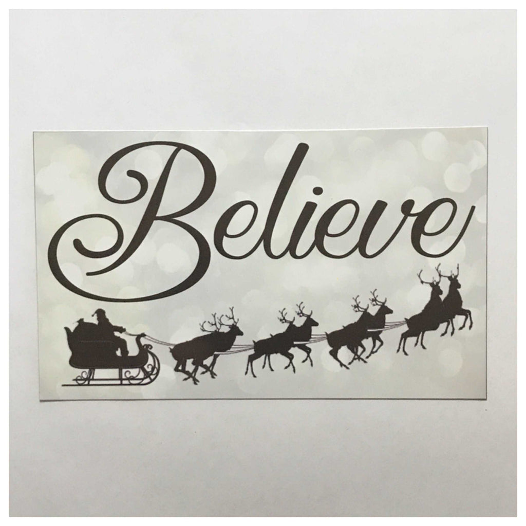 Believe Christmas Sign Wall Plaque or Hanging - The Renmy Store