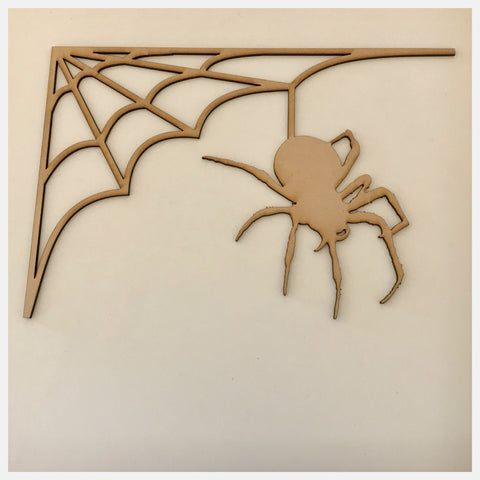 Spider Spiders Web MDF Shape DIY Raw Cut Out Art Craft Decor - The Renmy Store