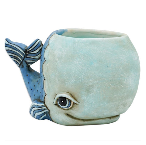 Whale Funky Pot Plant Large | The Renmy Store