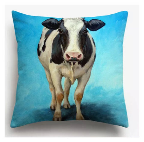Cushion Pillow Cow Funky Farm - The Renmy Store