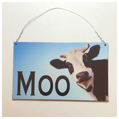 Moo Cow Sign Wall Plaque Or Hanging - The Renmy Store