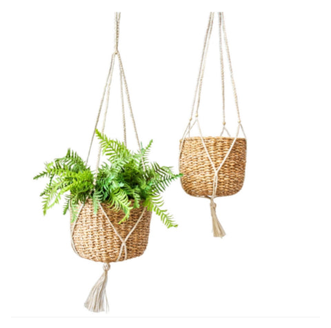 Pot Hanging Seagrass Natural Set of 2 | The Renmy Store