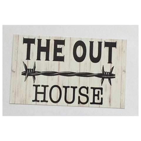 The Out House Sign Wall Plaque or Hanging - The Renmy Store