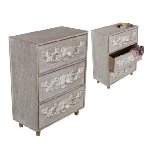 Cabinet Draw French White Filigree | The Renmy Store