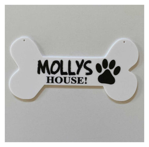 Dog Bone Dogs Name Custom House Sign