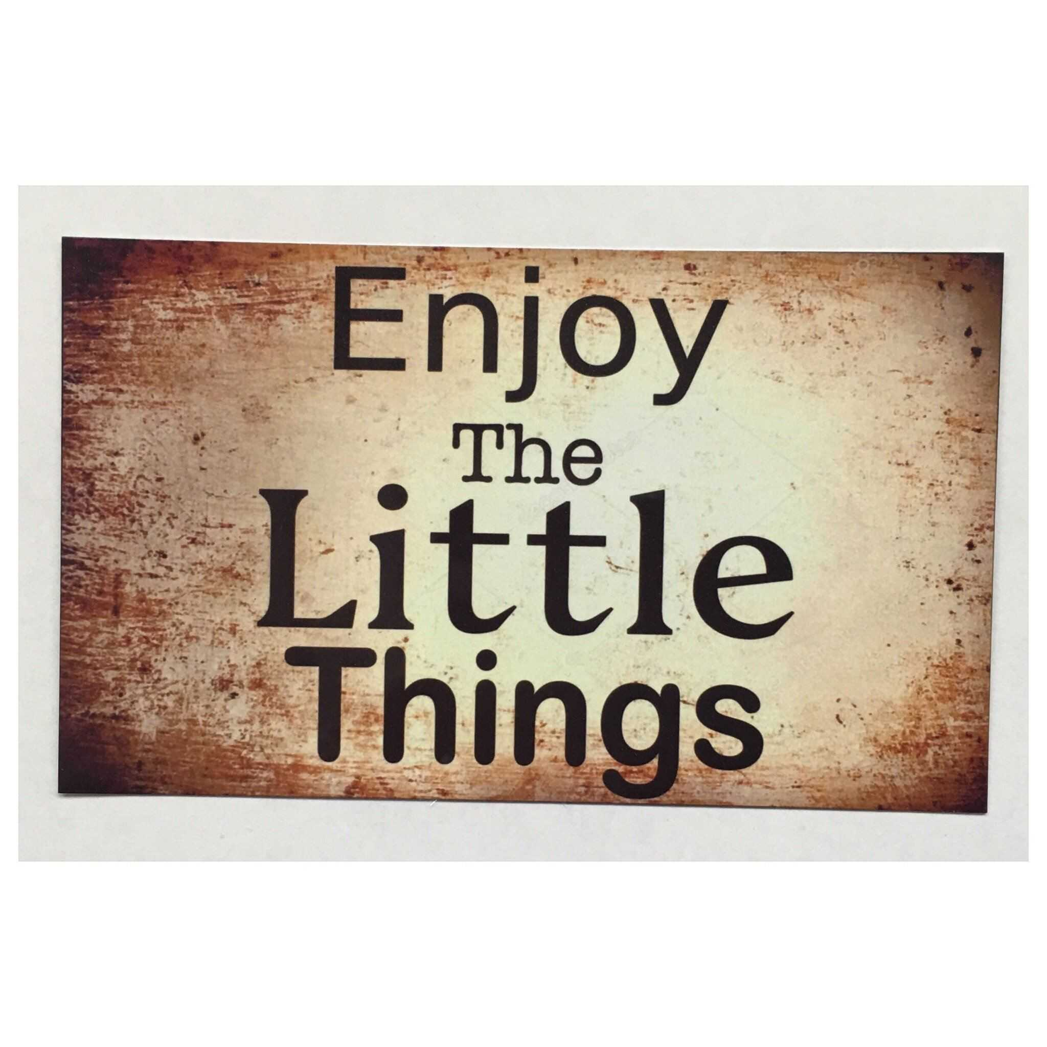 Enjoy The Little Things Vintage Style Sign - The Renmy Store