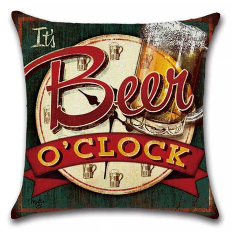 Cushion Pillow Beer O'Clock Bar Shed - The Renmy Store