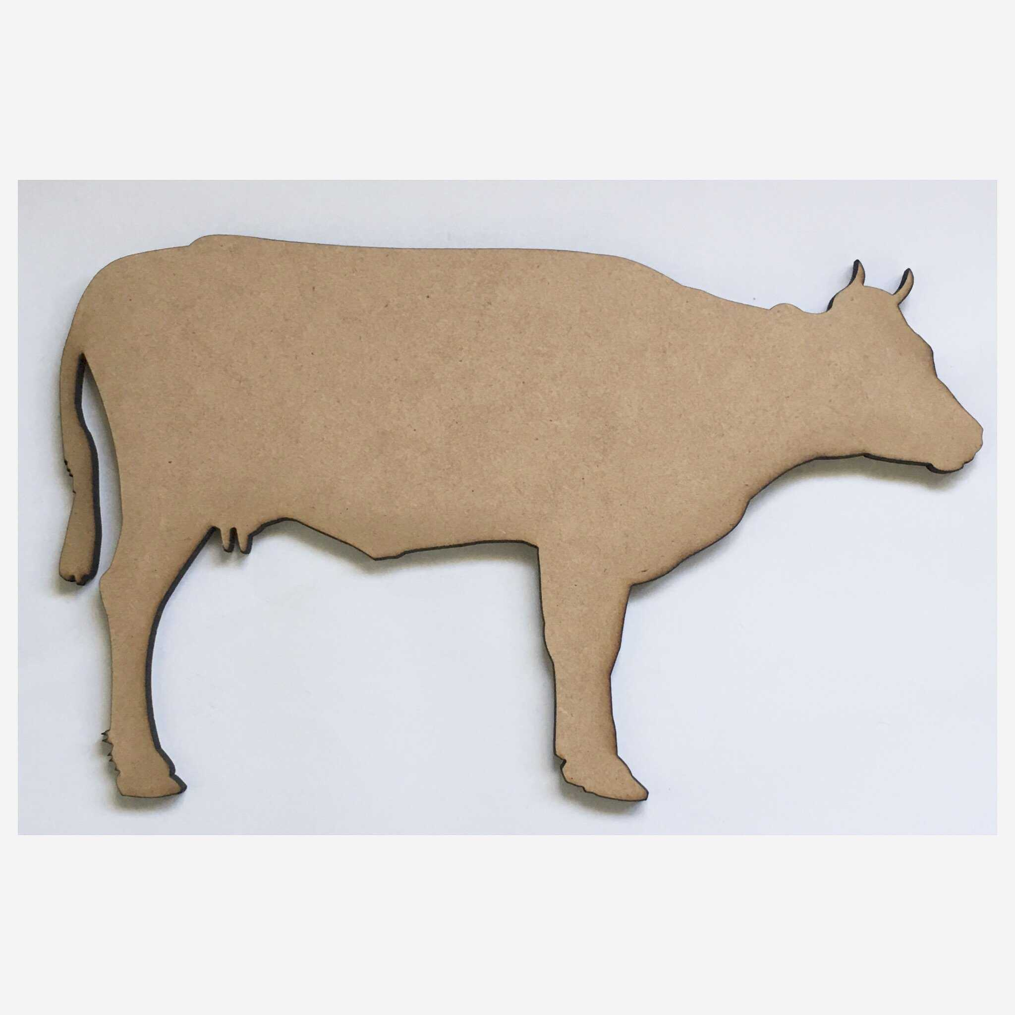 Cow MDF Shape Raw Cut Out Art Other Home Décor The Renmy Store