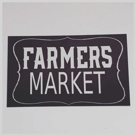 Farmers Market Sign Wall Plaque Or Hanging Plaques & Signs The Renmy Store