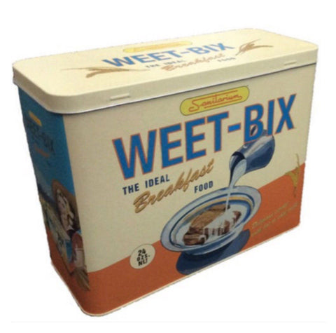 Box Tin Container Weet Bix Cereal Vintage Retro