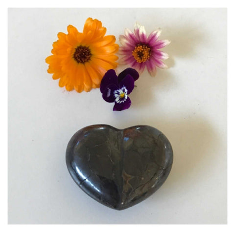Crystal Hematite Heart 1 | The Renmy Store