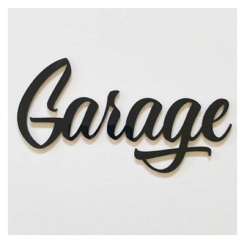 Garage Door Word Acrylic Wall Art Vintage