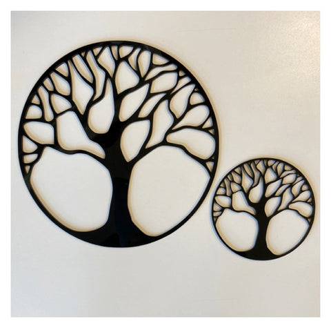 Tree of Life Set of 2 Black or White Acrylic Decor | The Renmy Store