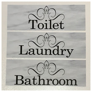 Toilet Laundry Bathroom Shabby Door Room Sign